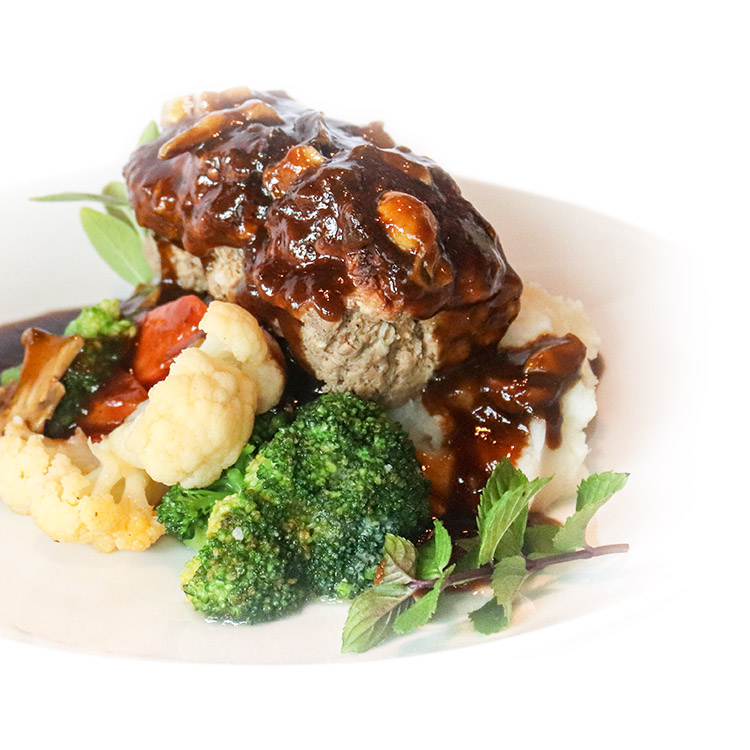 Meatloaf and Mushrooms